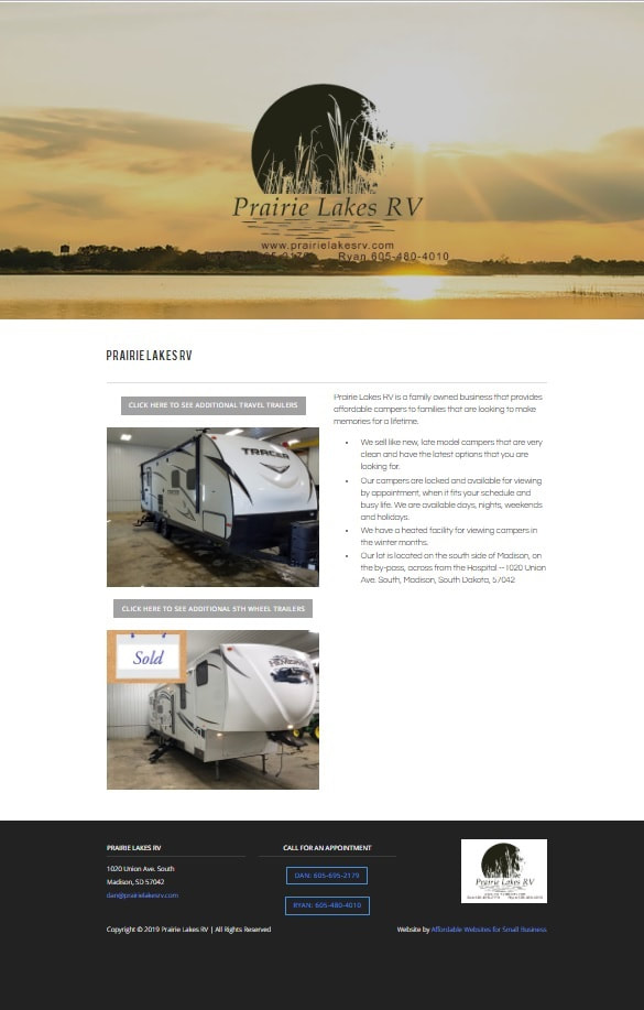 Prairie Lakes RV, Madison SD