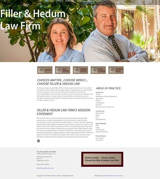 Filler and Hedum Law Firm, Longwood, Flordia