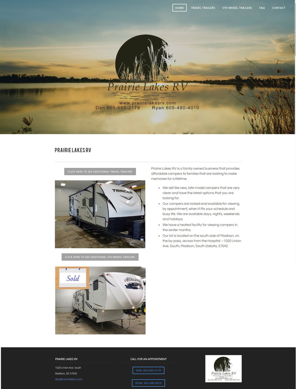 Prairie Lakes RV sells 5th wheel trailers and travel trailers, Madison, SD